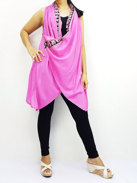 PRB15 Women Rayon Blouses Wraps Cloaks Tanks Tops Colorful Jackets Pink, Pants, NaughtyGirl, HaremPantsThai