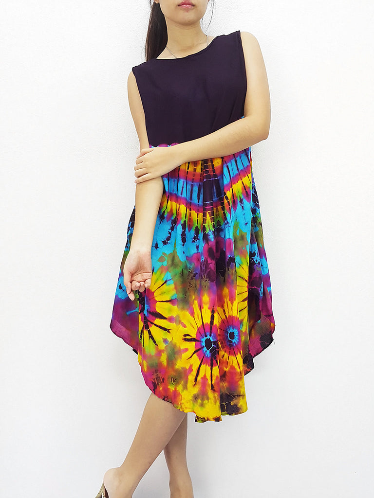 PTD3@-15 Thai Women Clothing Rayon Maxi Dress Hobo Hippie Boho Bohemain Hippie Gypsy Style Purple