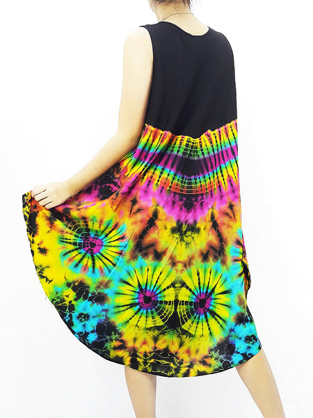 PTD3@-22 Thai Women Clothing Rayon Maxi Dress Hobo Hippie Boho Bohemain Hippie Gypsy Style Black