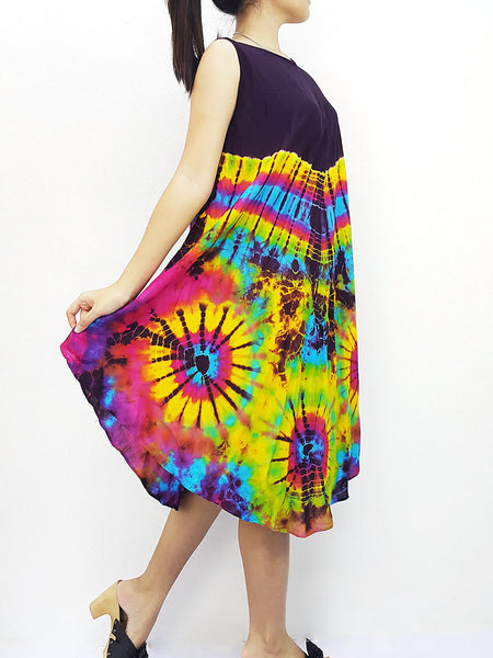 PTD3@-33 Thai Women Clothing Rayon Maxi Dress Hobo Hippie Boho Bohemain Hippie Gypsy Style Purple