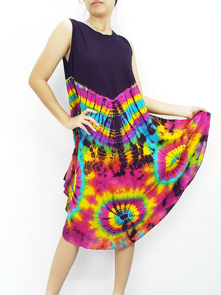 PTD3@-31 Thai Women Clothing Rayon Maxi Dress Hobo Hippie Boho Bohemain Hippie Gypsy Style Purple