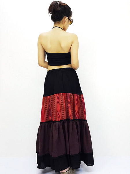 ST507 Thai Women Cotton Clothing Long Skirts Natural Luxury Lt Brown, NaughtyGirl, HaremPantsThai