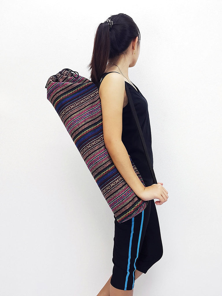 Handmade Yoga Mat Bag Yoga Bag Sports Bags Tote Yoga Sling bag Pilates Bag Pilates Mat Bag Woven Cotton bag (WF97)
