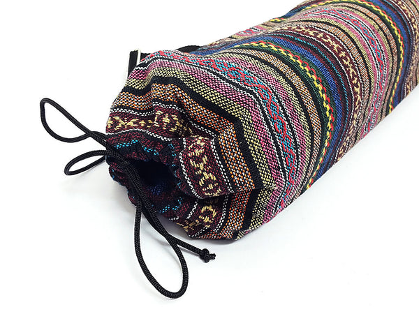 Thai Handmade Woven Yoga Mat Bag Sports Bags Pilates Mat Bag (WF97), VeradaShop, HaremPantsThai