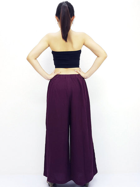 PT486 Natural Cotton Trousers Wide Leg Amethyst, NaughtyGirl, HaremPantsThai