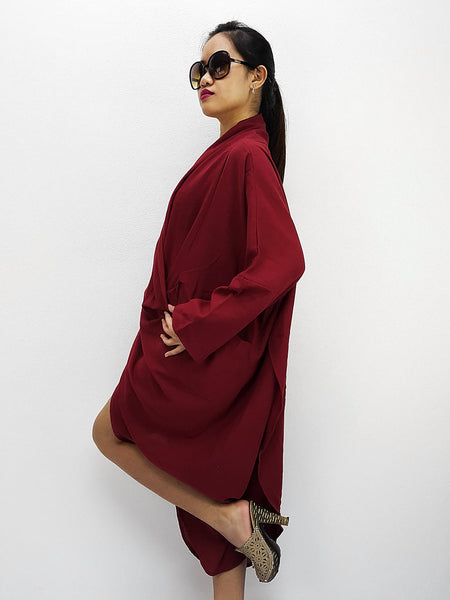 BY3248 Blouses Printed Natural Cotton Tunic Red, NaughtyGirl, HaremPantsThai