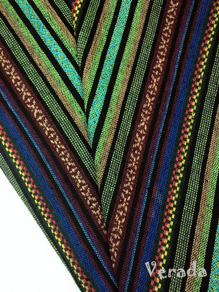 thai woven cotton fabric tribal fabric native fabric by the yard ethnic fabric aztec fabric craft supplies woven textile 1 2 yard wf3