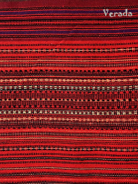 Thai Woven Cotton Tribal Fabric Textile 1/2 yard Red (WF2), VeradaCraft, HaremPantsThai