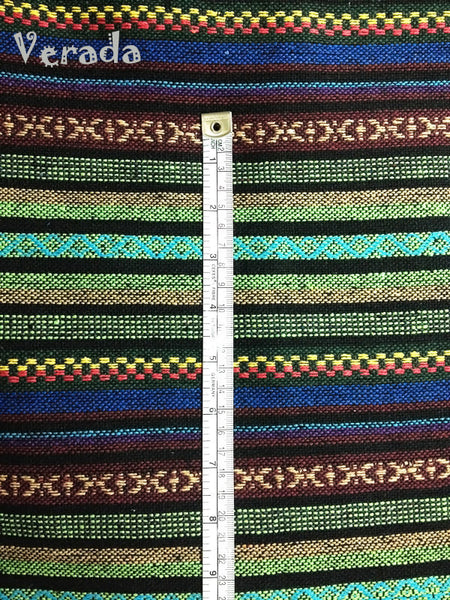 Thai Woven Cotton Tribal Fabric Textile 1/2 yard (WF3), VeradaCraft, HaremPantsThai