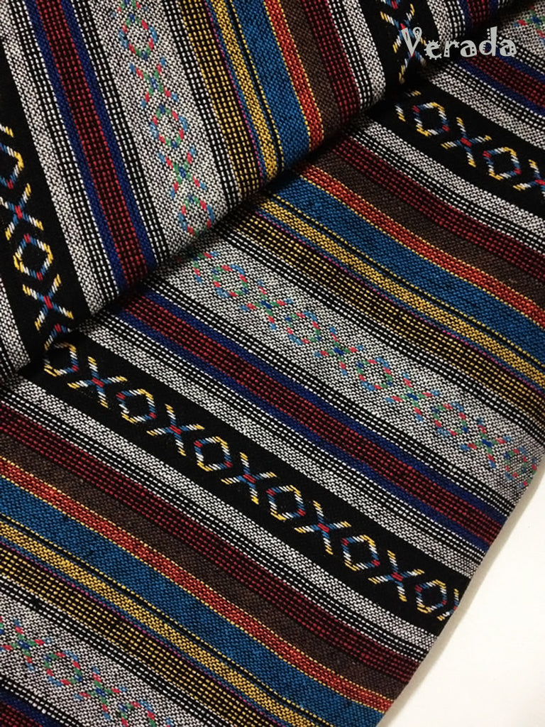 thai woven cotton fabric tribal fabric native fabric by the yard ethnic fabric aztec fabric craft supplies woven textile 1 2 yard wf14