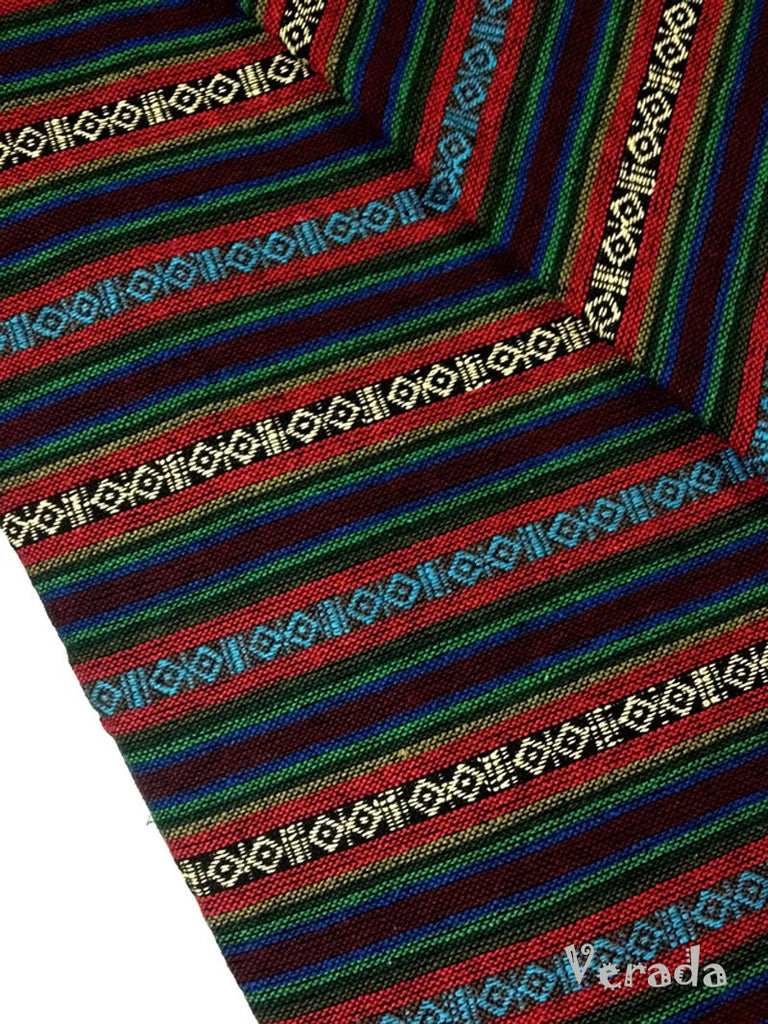 thai woven cotton fabric tribal fabric native fabric by the yard ethnic fabric aztec fabric craft supplies woven textile 1 2 yard wf7