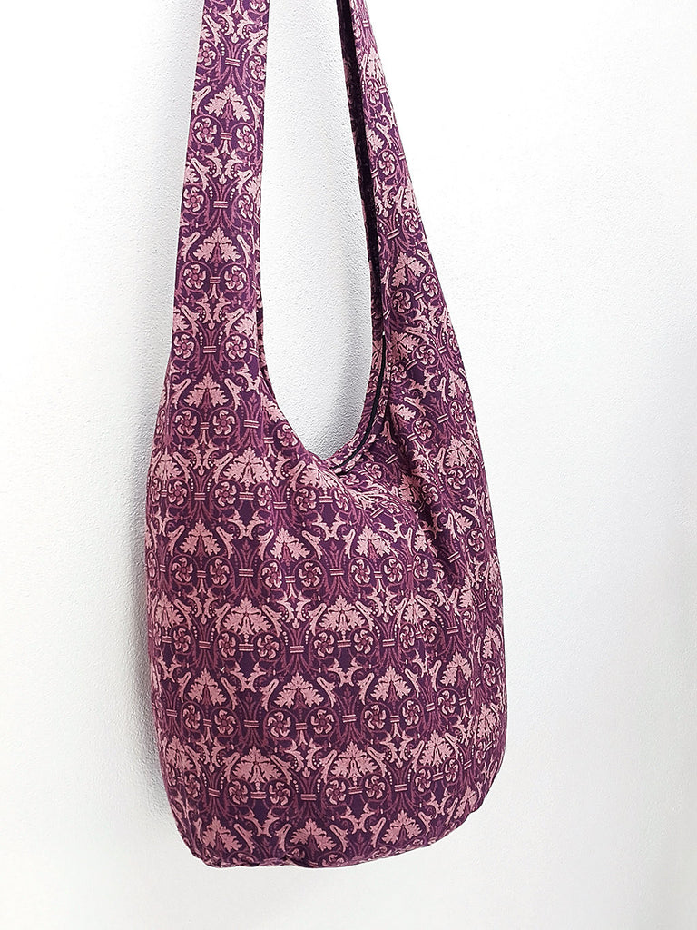 Cotton Handbags Hippie bag Hobo bag Boho bag Shoulder bag Sling bag Tote bag Crossbody bag Amethyst, VeradaShop, HaremPantsThai