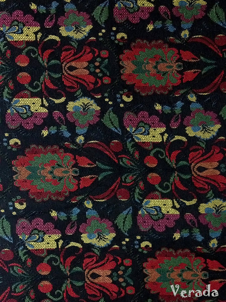 Thai Tribal Native Woven Fabric Textile 1/2 yard Black (WF24), VeradaCraft, HaremPantsThai