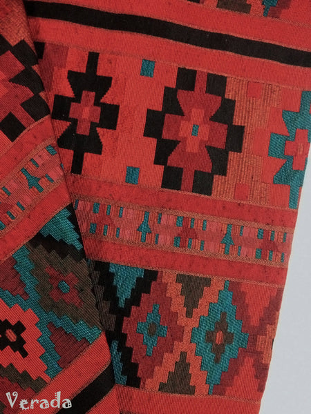 thai woven cotton fabric tribal fabric native fabric by the yard ethnic fabric aztec fabric craft supplies woven textile 1 2 yard wf25
