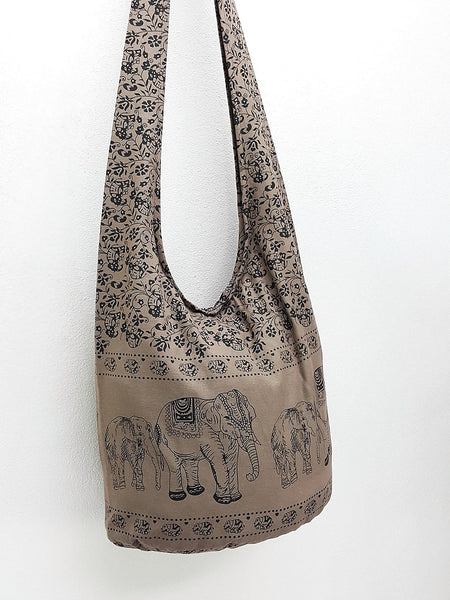Women bag Handbags Cotton bag Elephant bag Hippie Hobo Boho bag Shoulder bag Sling bag bag Tote Crossbody bag Purse Khaki Brown