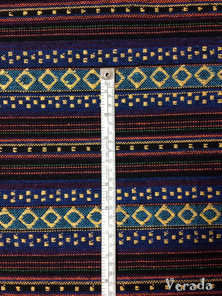 Thai Tribal Native Woven Fabric Textile 1/2 yard Dark Blue (WF17), VeradaCraft, HaremPantsThai