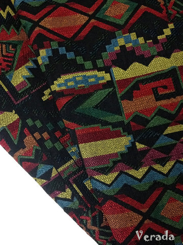 thai woven fabric tribal fabric native fabric by the yard ethnic fabric aztec fabric craft supplies woven textile 1 2 yard black wf23