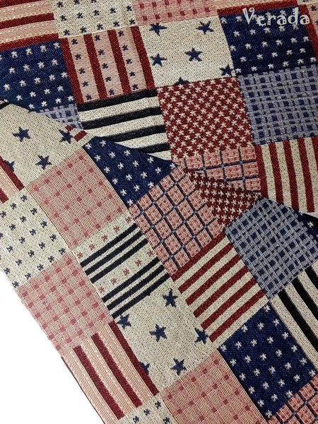woven fabric tribal fabric cotton fabric by the yard ethnic fabric craft fabric craft supplies woven textile american flag 1 2 yard wf26