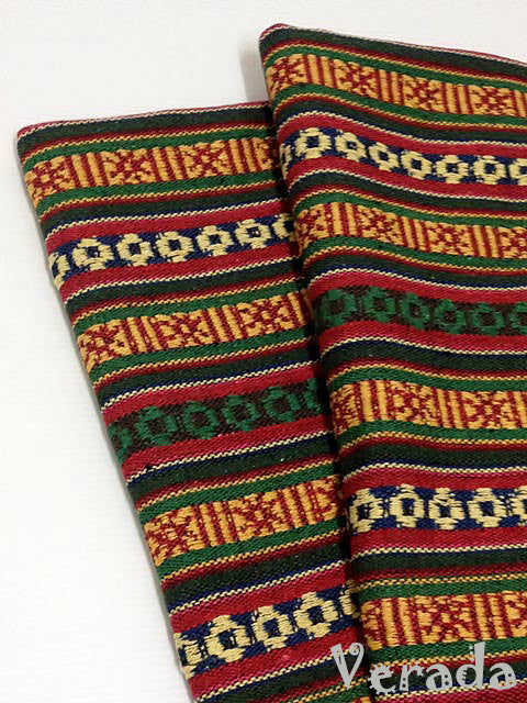 thai woven cotton fabric tribal fabric native fabric by the yard ethnic fabric aztec fabric craft supplies woven textile 1 2 yard wf31