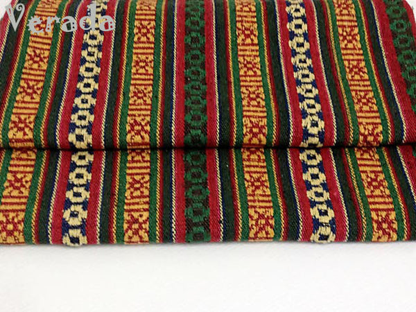 Thai Woven Cotton Tribal Fabric Textile 1/2 yard (WF31), VeradaCraft, HaremPantsThai
