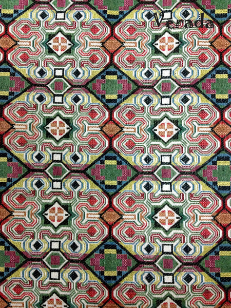 Thai Tribal Native Woven Fabric Cotton Textile 1/2 yard (WF42), VeradaCraft, HaremPantsThai