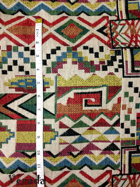 Thai Tribal Native Woven Fabric Cotton Textile 1/2 yard (WF47), VeradaCraft, HaremPantsThai