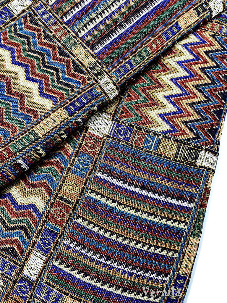 thai woven fabric tribal fabric native cotton fabric by the yard ethnic fabric craft fabric craft supplies woven textile 1 2 yard wf49