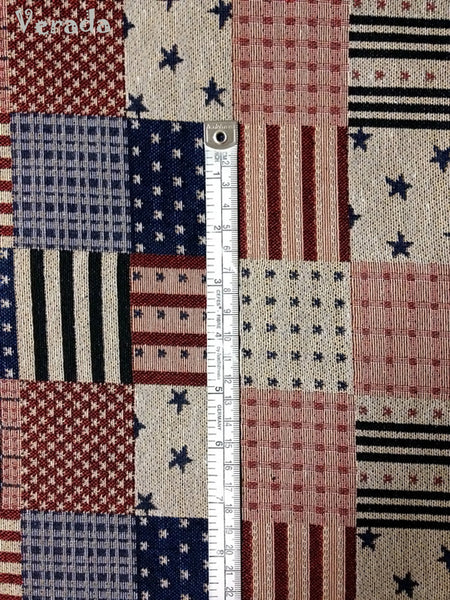 Woven Fabric Tribal Fabric Cotton Textile American Flag 1/2 yard (WF26), VeradaCraft, HaremPantsThai