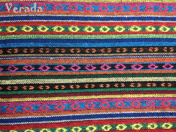 Thai Tribal Native Woven Fabric Cotton Textile 1/2 yard (WF34), VeradaCraft, HaremPantsThai