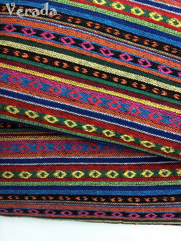 thai woven fabric tribal fabric native cotton fabric by the yard ethnic fabric craft fabric craft supplies woven textile 1 2 yard wf34