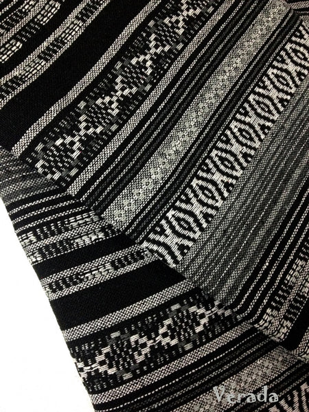 thai woven fabric tribal fabric cotton fabric by the yard ethnic fabric craft fabric craft supplies woven textile 1 2 yard black wf48