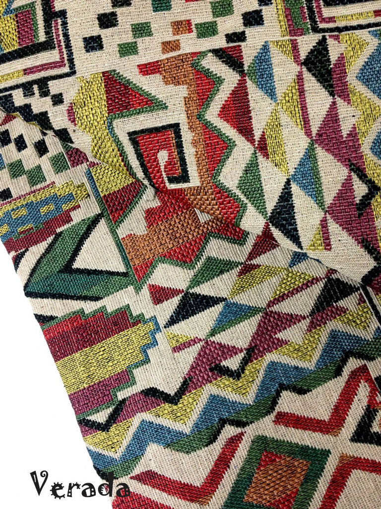 thai woven fabric tribal fabric native cotton fabric by the yard ethnic fabric craft fabric craft supplies woven textile 1 2 yard wf47