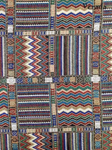 Thai Tribal Native Woven Fabric Cotton Textile 1/2 yard (WF49), VeradaCraft, HaremPantsThai