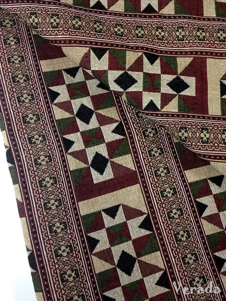 thai woven fabric tribal fabric native cotton fabric by the yard ethnic fabric craft fabric craft supplies woven textile 1 2 yard wf56
