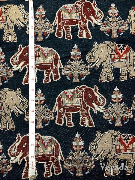 Thai Tribal Native Woven Fabric Cotton Textile Elephant 1/2 yard (WF59), VeradaCraft, HaremPantsThai