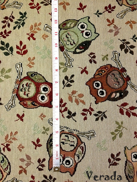 Thai Tribal Native Woven Fabric Cotton Textile Owl 1/2 yard (WF60), VeradaCraft, HaremPantsThai