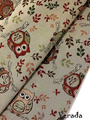 thai woven fabric tribal fabric cotton fabric by the yard ethnic fabric craft fabric craft supplies woven textile owl 1 2 yard wf60