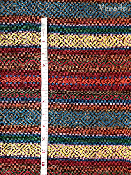 Thai Woven Cotton Tribal Fabric Textile 1/2 yard (WF64), VeradaCraft, HaremPantsThai