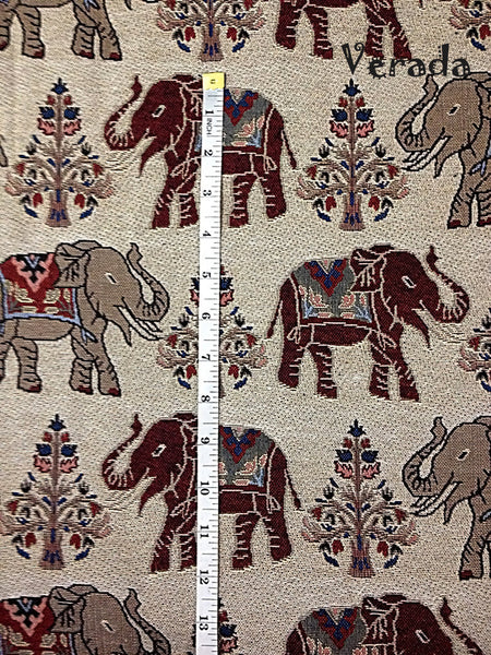 Thai Tribal Native Woven Fabric Cotton Textile Elephant 1/2 yard (WF52), VeradaCraft, HaremPantsThai
