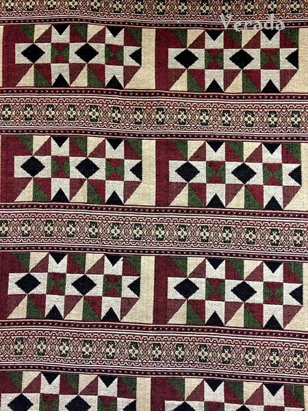 Thai Tribal Native Woven Fabric Cotton Textile 1/2 yard (WF56), VeradaCraft, HaremPantsThai