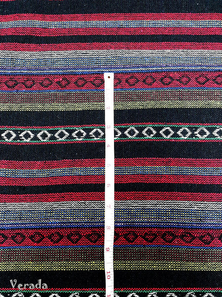 Thai Woven Cotton Tribal Fabric Textile 1/2 yard Red (WF63), VeradaCraft, HaremPantsThai
