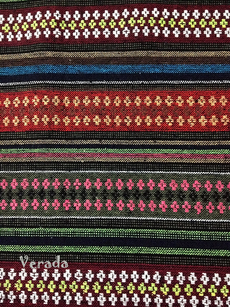 Thai Woven Cotton Tribal Fabric Textile 1/2 yard (WF67), VeradaCraft, HaremPantsThai