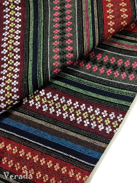 thai woven cotton fabric tribal fabric native fabric by the yard ethnic fabric aztec fabric craft supplies woven textile 1 2 yard wf67