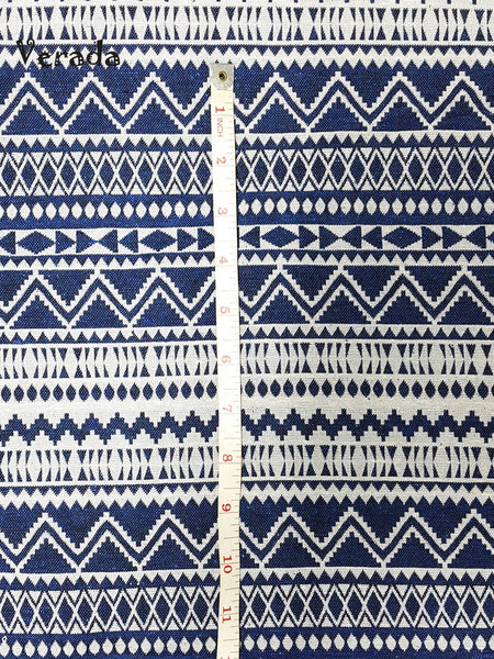Thai Tribal Native Woven Fabric Textile 1/2 yard White Blue (WF70), VeradaCraft, HaremPantsThai