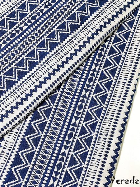 thai woven fabric tribal fabric native fabric by the yard ethnic fabric aztec fabric craft supplies woven textile 1 2 yard white blue wf70
