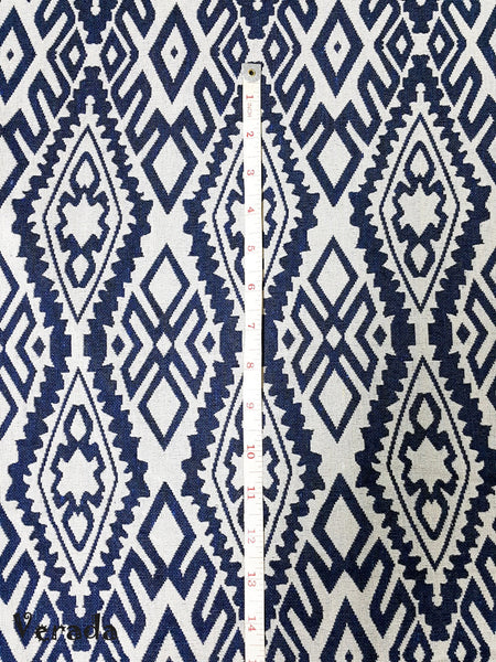 Thai Tribal Native Woven Fabric Textile 1/2 yard White Blue (WF71), VeradaCraft, HaremPantsThai