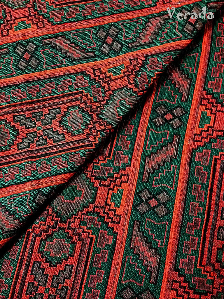 thai woven cotton fabric tribal fabric native fabric by the yard ethnic fabric aztec fabric craft supplies woven textile 1 2 yard wf66