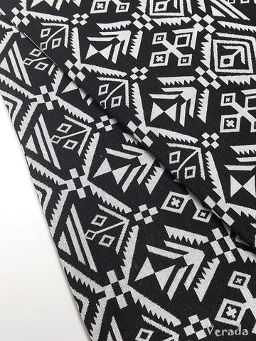 thai woven fabric tribal fabric native fabric by the yard ethnic fabric aztec fabric craft supplies woven textile 1 2 yard black whitewf77