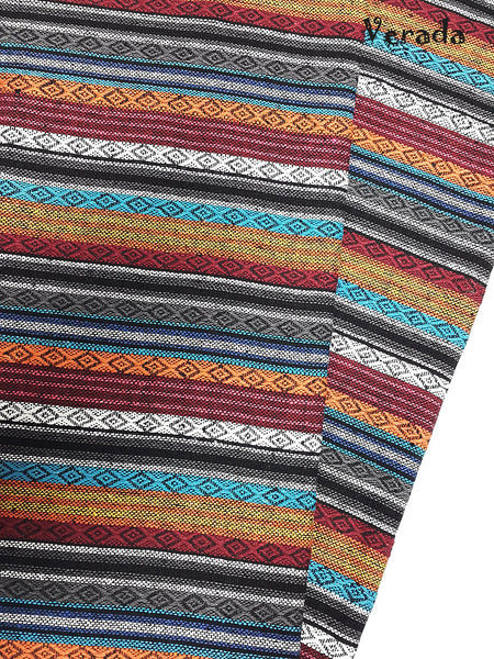 thai woven cotton fabric tribal fabric native fabric by the yard ethnic fabric aztec fabric craft supplies woven textile 1 2 yard wf83