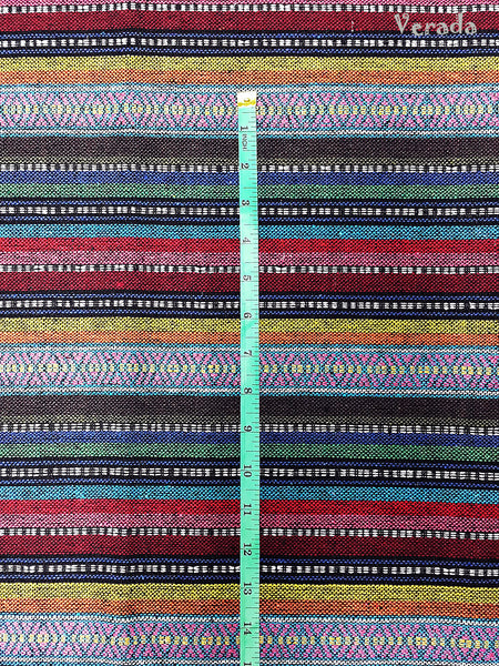 Thai Tribal Native Woven Fabric Cotton Textile 1/2 yard (WF87), VeradaCraft, HaremPantsThai